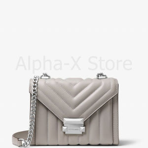 NWT Michael Kors Whitney Small Quilted Leather Con